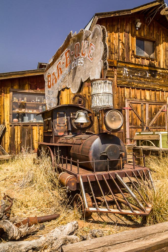 Lok på öde tomt i New Mexico